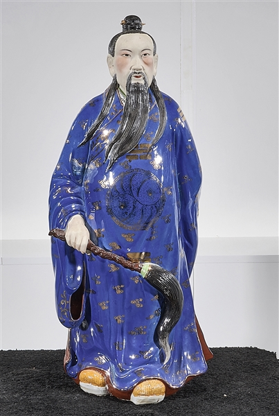 Chinese Enameled Porcelain Standing Figure