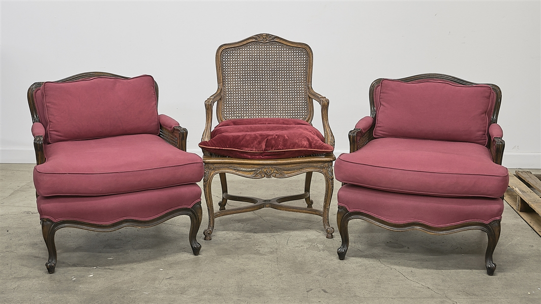 Group of Three Louis XV Style Chairs