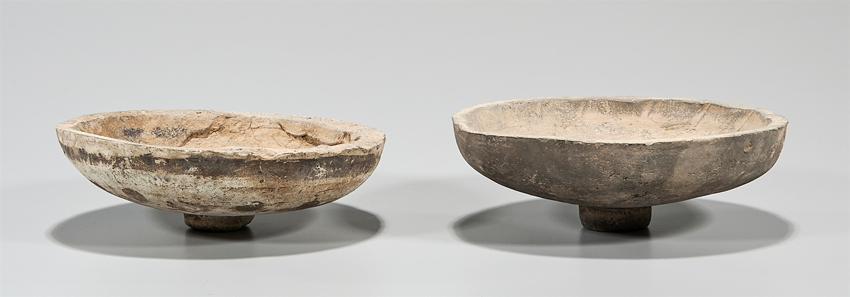 Pair of Chinese Pottery Footed Bowls