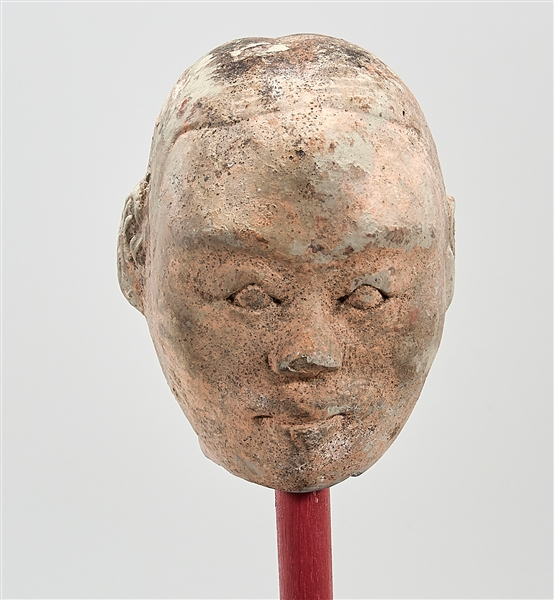 Chinese Han Dynasty Pottery Head