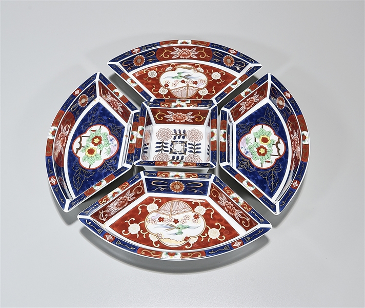 Japanese Imari-Style Five-Piece Condiment Set