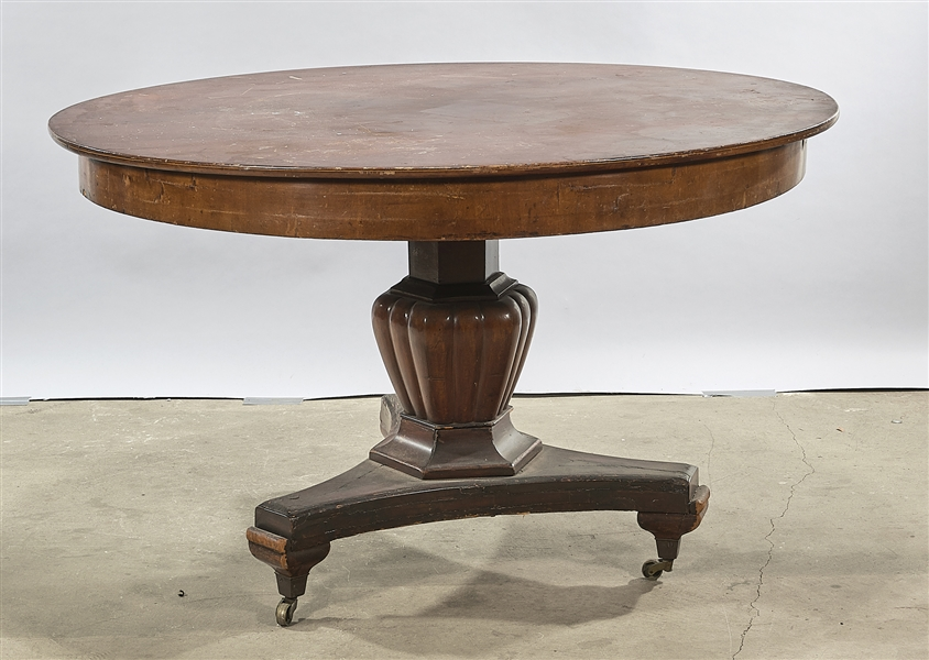 Antique Oval Pedestal Table