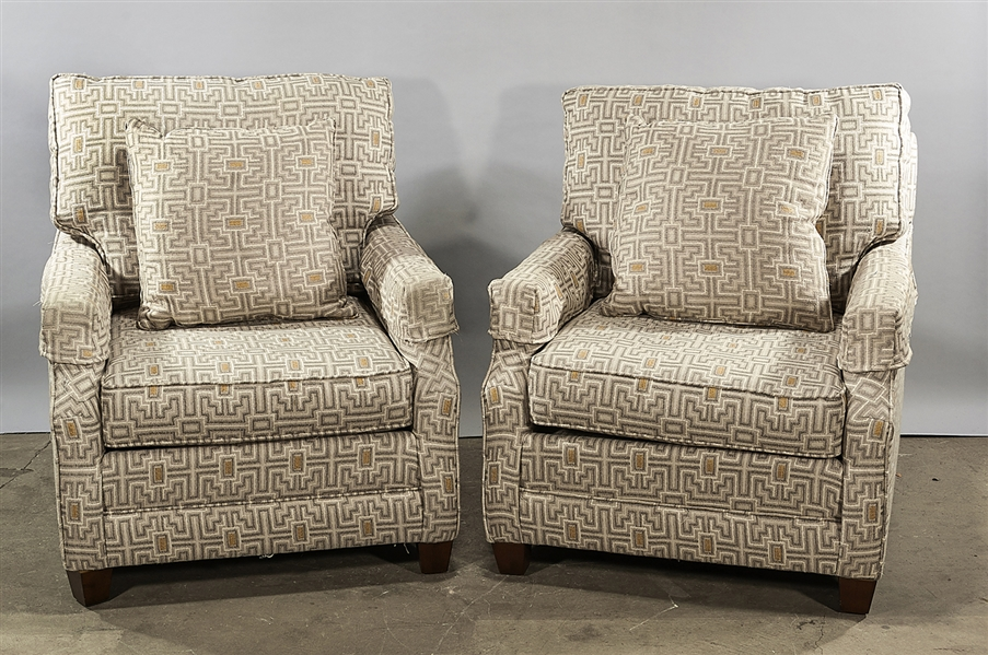 Two Bassett Upholstered Arm Chairs