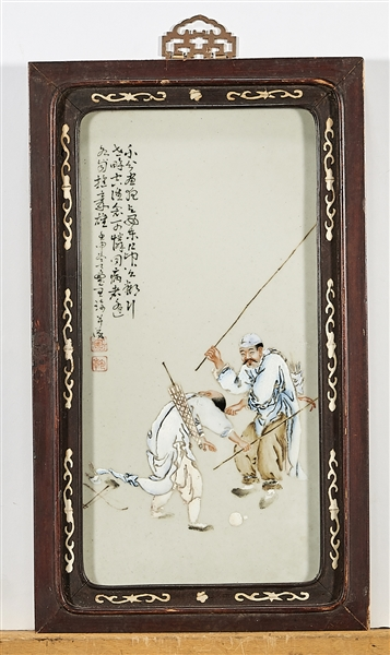 Group of Three Chinese Porcelain Plaques