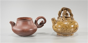 Chinese Yixing and Glazed Ceramic Teapots