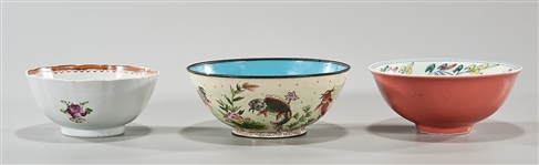 Group of Three Chinese Glazed Bowls