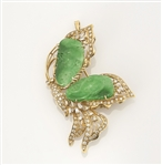 Jadeite Diamond & Gold Broche/Pendant