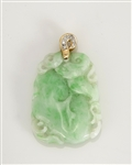 Jadeite Gold & Diamond Pendant