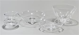 Group of Steuben Crystal Bowls