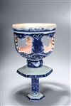 Chinese Blue and White Porcelain Candle Stick