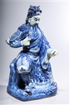 Chinese Blue and White Porcelain Guandi