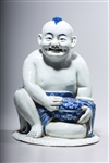 Chinese Blue and White Porcelain Figure