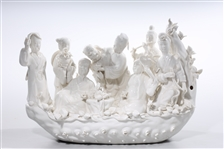 Chinese Blanc de Chine Figure Group